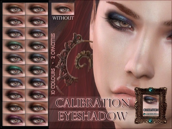 The Sims Resource: Calibration Eyeshadow by RemusSirion