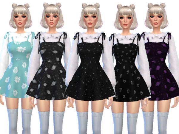 The Sims Resource: Kawaii Dress with Blouse by Wicked Kittie