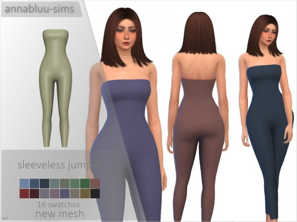 The Sims Resource: Sleeveless Jumper by Annabluu