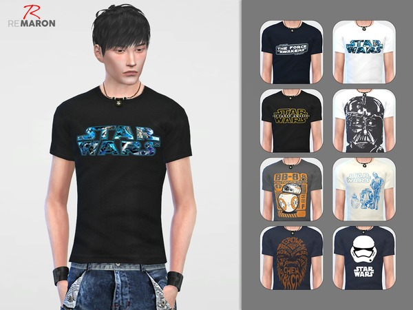 The Sims Resource: Star Wars shirt for men by remaron