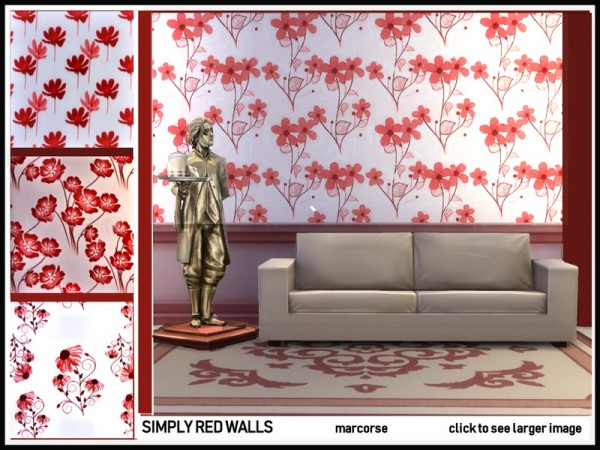 The Sims Resource: Simply Red Walls by marcorse