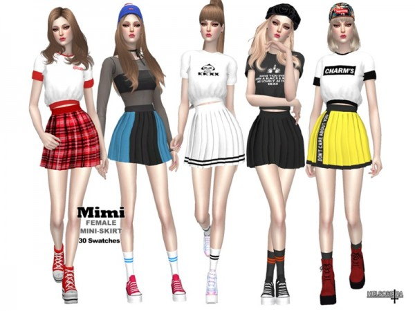 The Sims Resource: MIMI   Mini Skirt  by Helsoseira