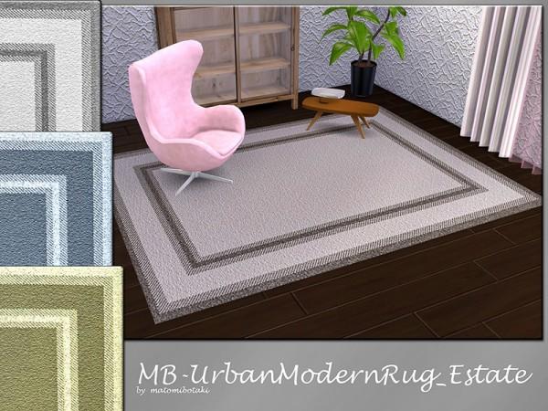 The Sims Resource: Urban Modern Rug Estate by matomibotaki