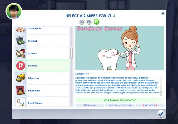 Simsworkshop: Dentistry Career by KaiSimsCC