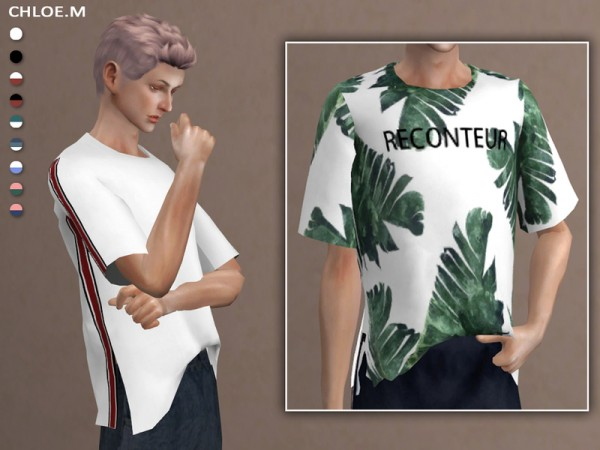 The Sims Resource Short Sleeved T Shirt By Chloemmm