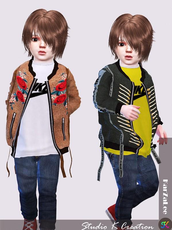 Studio K Creation: EMB Jacket toddler version