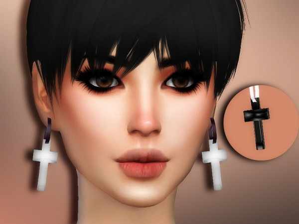 The Sims Resource: Angel Earrings by Sharareh