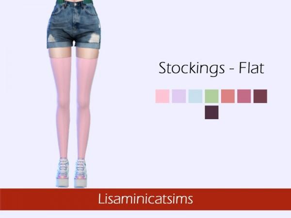 The Sims Resource: Stockings Flat by Lisaminicatsims