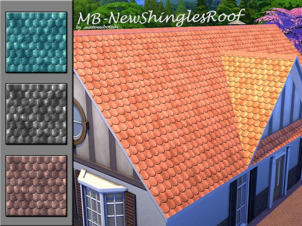 The Sims Resource: New Shringles Roof  by matomibotaki