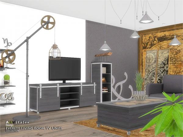 The Sims Resource: Everett Livingroom TV Units by ArtVitalex