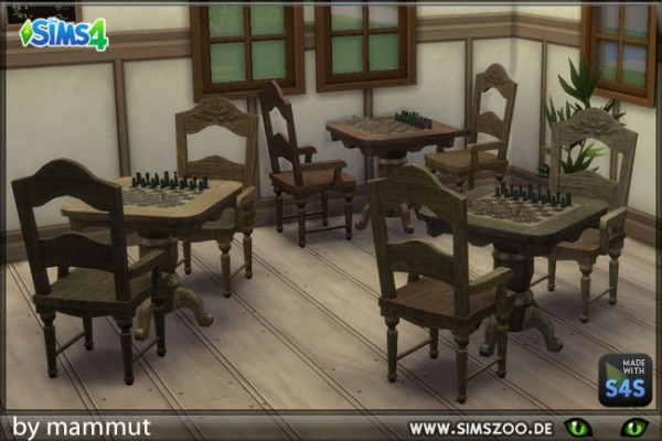 Blackys Sims 4 Zoo: Chess chairs by mammut