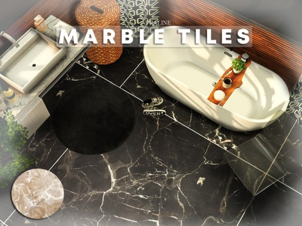 The Sims Resource: Marble Tiles by Pralinesims