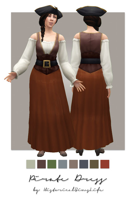 History Lovers Sims Blog: Pirate dress