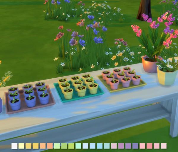 Simlish Designs: Flower Pots Tray