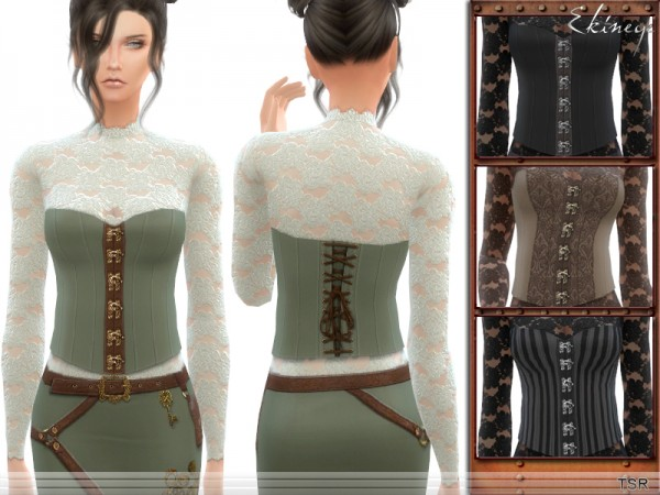 The Sims Resource: Steampunk   Top by ekinege