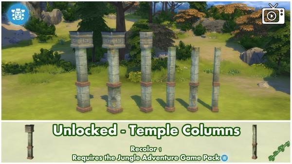 Mod The Sims: Temple Columns by Bakie