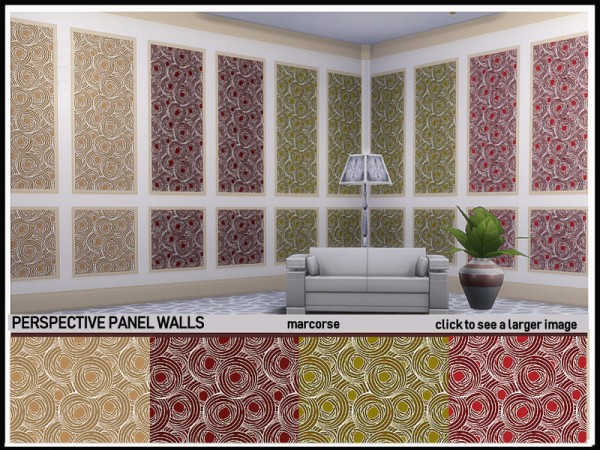 The Sims Resource: Perspective Panel Walls by marcorse