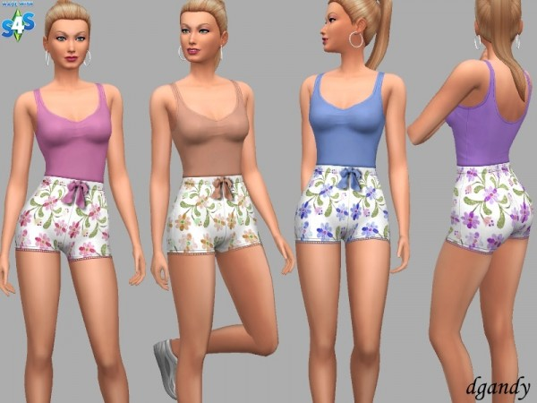 The Sims Resource: Athletic short Wanda by dgandy