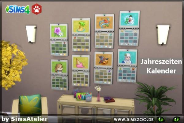 Blackys Sims 4 Zoo: Seasons calendar by  SimsAtelier
