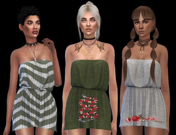Leo 4 Sims: Cassandra dress 2 recolored