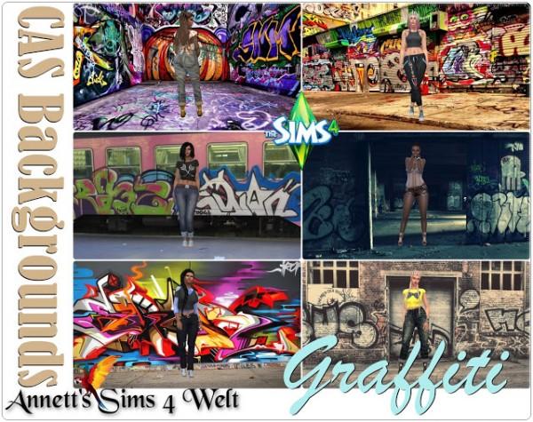 Annett`s Sims 4 Welt: CAS Backgrounds Graffiti
