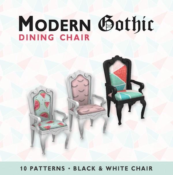 Simplistic: Modern Gothic Dining Chair