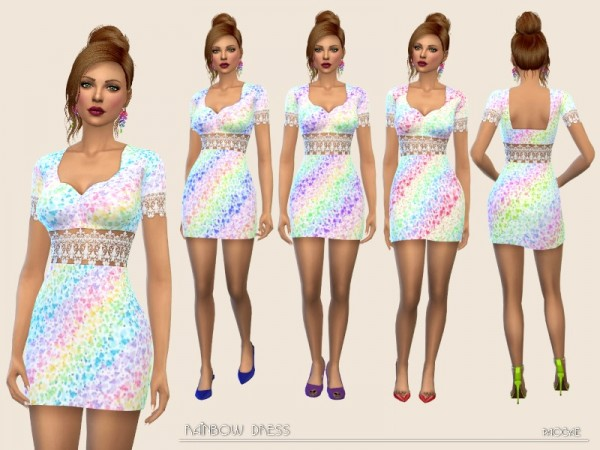 The Sims Resource: Rainbow Dress by Paogae