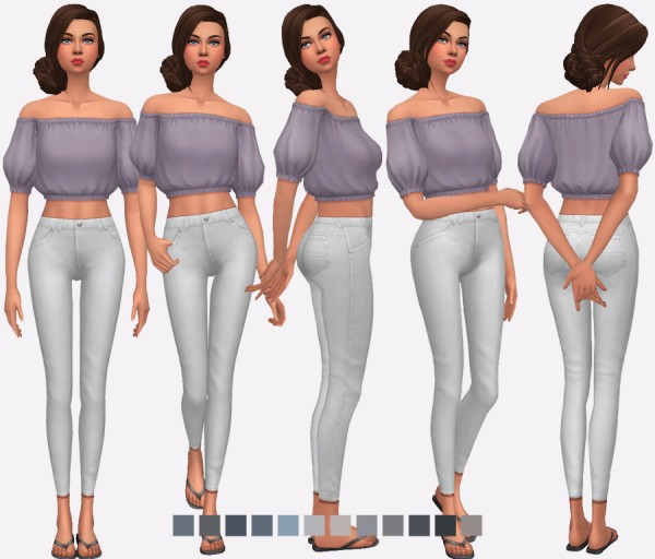 Simlish Designs: High Waisted Skinny Jeans