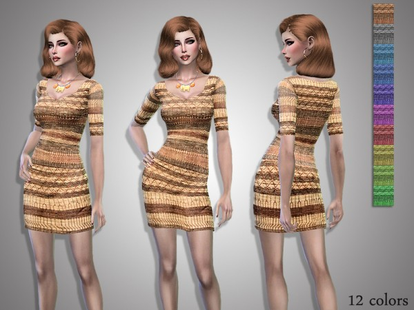 The Sims Resource: Vera dress by Simalicious
