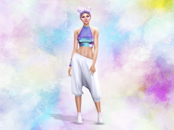 The Sims Resource: Watercolor CAS Background by KatVerseCC
