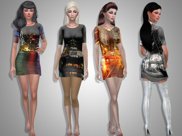 The Sims Resource: Night City outfit by Simalicious