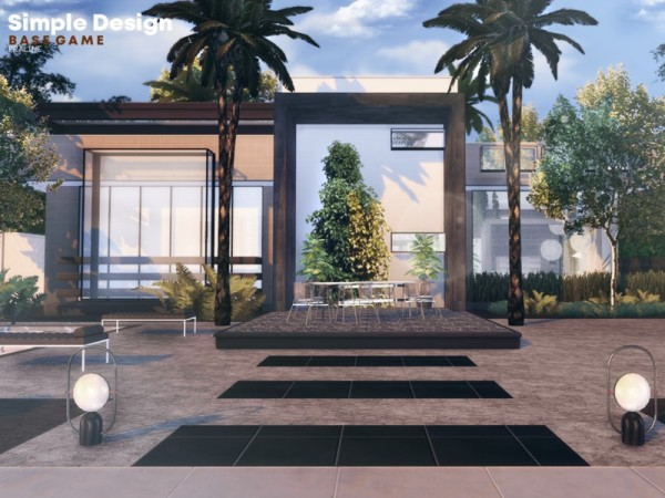 The Sims Resource: Simple Design house by Pralinesims