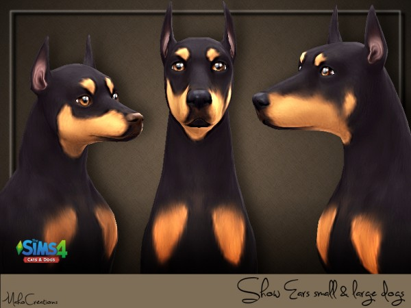 The Sims Resource: Show Ears Dogs by MahoCreations