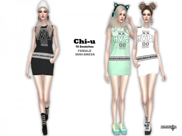 The Sims Resource: CHI U   Mini Dress by Helsoseira