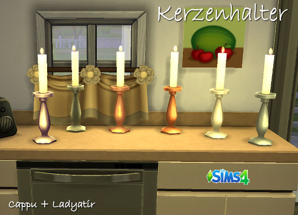 Blackys Sims 4 Zoo: Candle stick by ladyatir
