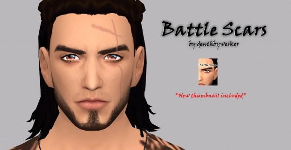 Simsworkshop: Battle Scars by deathbywesker