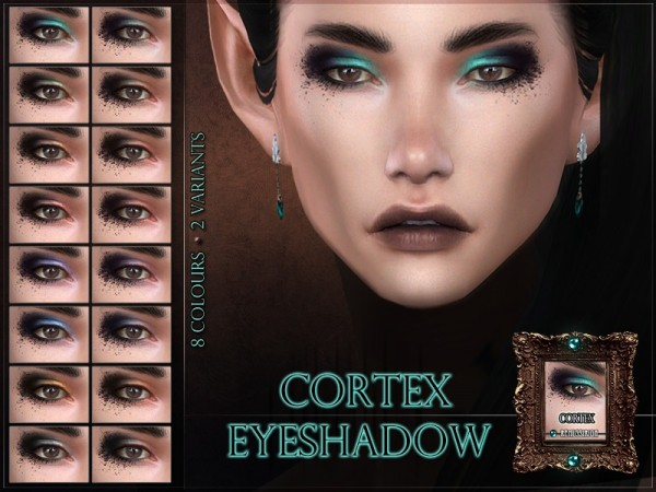 The Sims Resource: Cortex Eyeshadow by RemusSirion