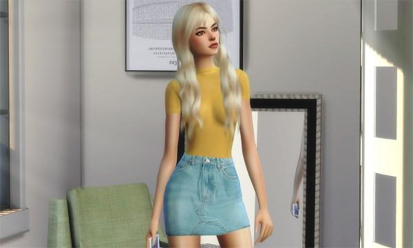 Korka Sims: Denim skirt