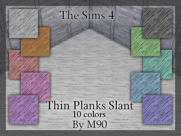 The Sims Resource: Thin Planks Slant by Mircia90