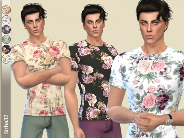 The Sims Resource: Floral T shirt by Birba32