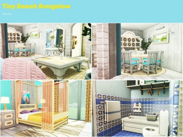 The Sims Resource: Tiny Beach Bungalow by Pralinesims