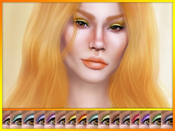 The Sims Resource: Jalene Eyeshadow by KatVerseCC