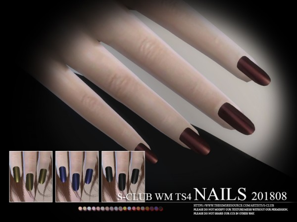 The Sims Resource: Nails 201808 by S Club