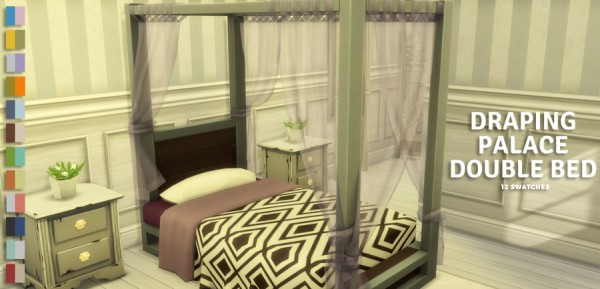 Simlish Designs: Draping Palace Double Bed
