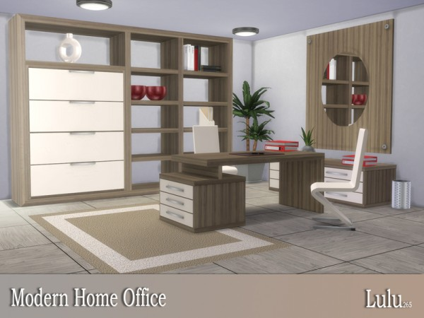 The Sims Resource: Modern Home Office by Lulu265