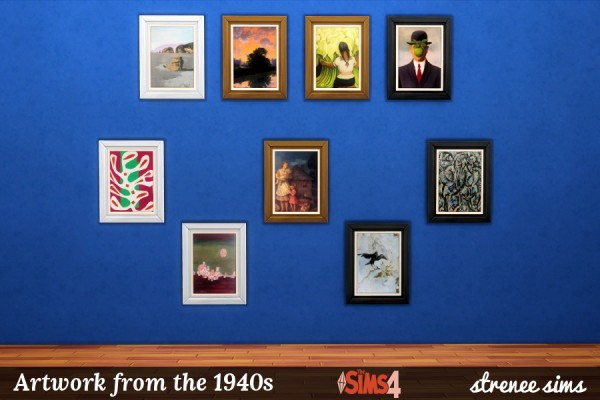 Strenee sims: Art Series: Artwork from the 1920  1940s