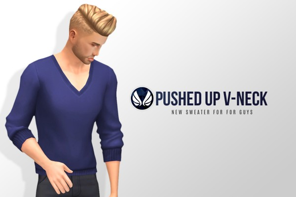 Simsational designs: Pushed Up V Neck   new sweater