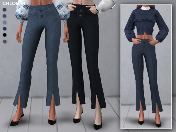 The Sims Resource: Jeans for her by ChloeMMM