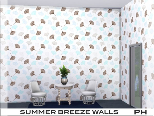 The Sims Resource: Summer Breeze Walls 1 by Pinkfizzzzz