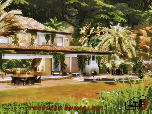 The Sims Resource: Tropical bungalow by Danuta720